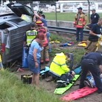 FIREFIGHTERS AND EMS STABILIZE VICTIMS