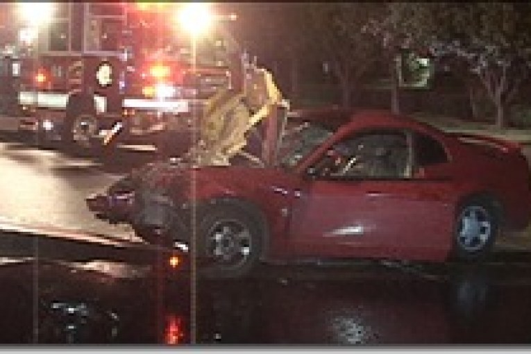 OVERNIGHT HEAD-ON SERIOUSLY INJURES ONE