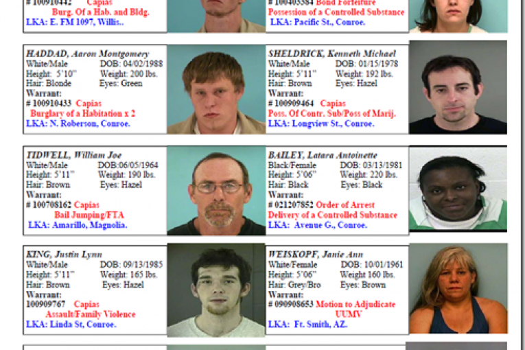 CRIME STOPPERS FEATURED FUGITIVES FOR OCTOBER 1, 2010