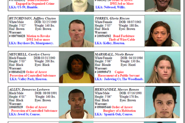 MONTGOMERY COUNTY CRIME STOPPERS FEATURED FUGITIVES FOR WEEK OF 10/15/10