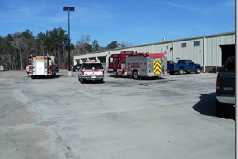 FIRE AT SPLENDORA HIGH SCHOOL TECHNOLOGY BUILDING