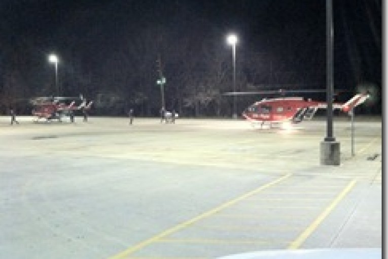 LIFE FLIGHT MAKES AN EMERGENCY LANDING