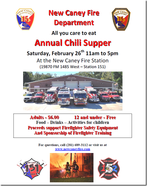 NEW CANEY CHILI SUPPER