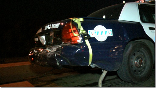 CONROE POLICE OFFICER ESCAPES INJURY
