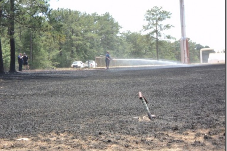 BRUSH FIRE BROUGHT UNDER CONTROL ON FM3083