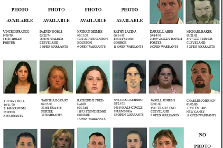 MONTGOMERY COUNTY PRECINCT 4 FEATURED FUGITIVES