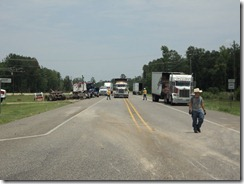 18 WHEELER U-TURNS CAUSES CRASH