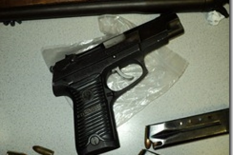 3 year-old with 9mm pistol causes family disturbance