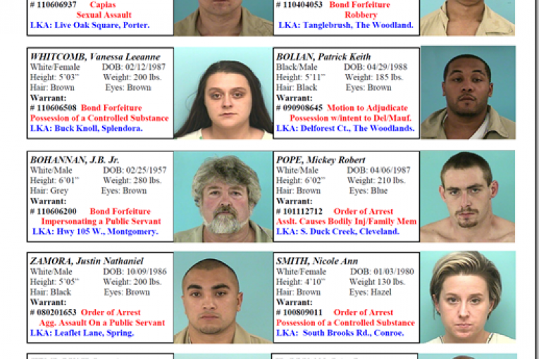 montgomery county featured fugitives for 7/22/11