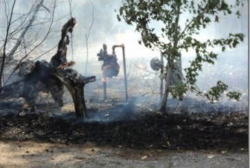 COON MASSEY ROAD FIRE CAME CLOSE TO BURNING HOUSES