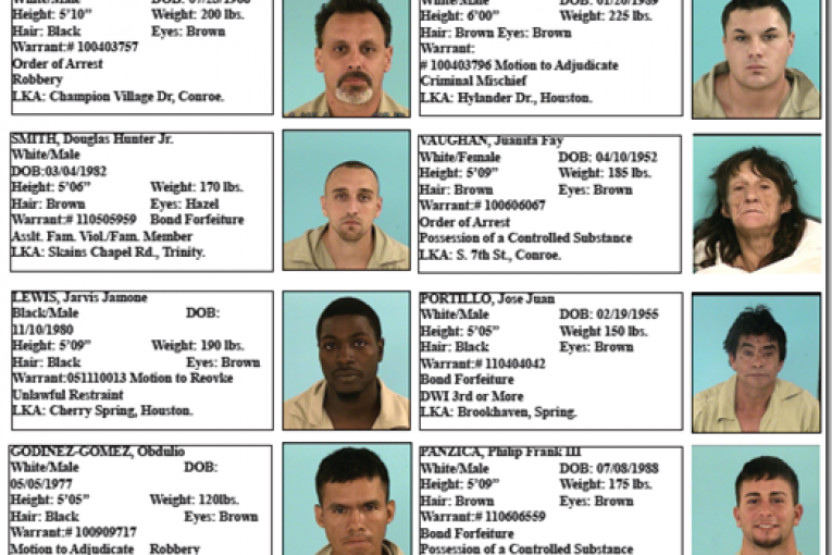 montgomery county featured fugitives  for august 26, 2011