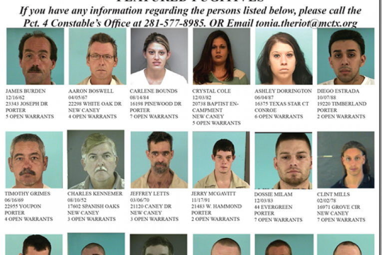 montgomery county precinct 4 featured fugitives for august 10, 2011