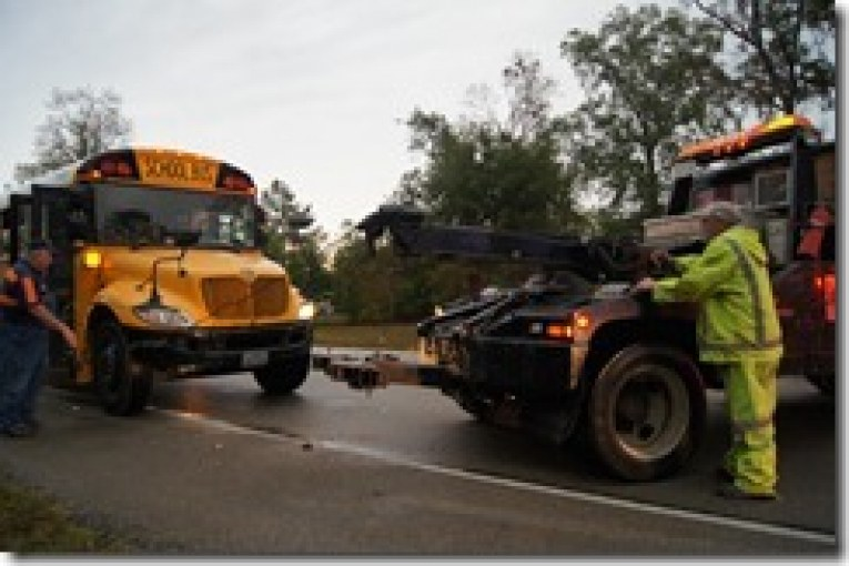 CONROE ISD BUS HIT BY OUT OF CONTROL TRUCK