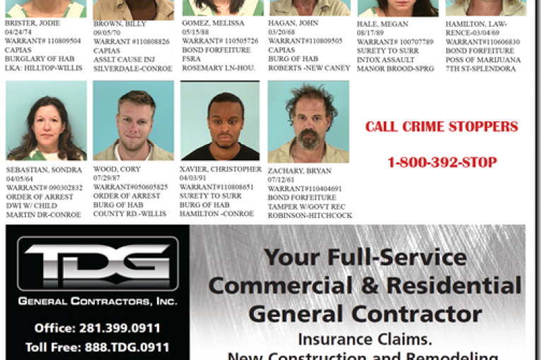 MONTGOMERY COUNTY FEATURED FUGITIVES 09/23/11