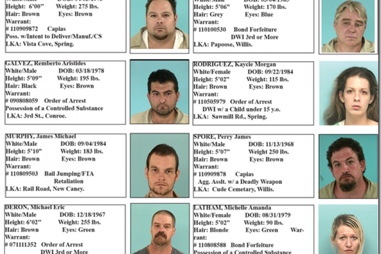 MONTGOIMERY COUNTY FEATURED FUGITIVES FOR WEEK ENDING SEPTEMBER 30, 2011
