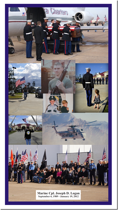 PHOTO TRIBUTE TO CPL. JOSEPH LOGAN IN MCPR FRIDAY EDITION