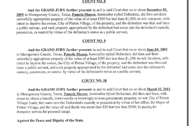 COPY OF INDICTMENT ON PATTON VILLAGE MAYOR
