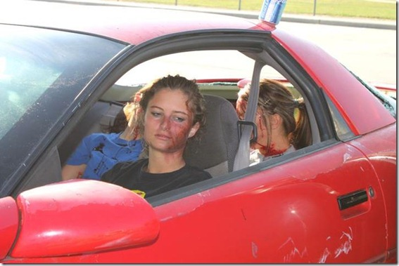 caney creek high demonstrates to students the consequences of driving impaired-video is now working