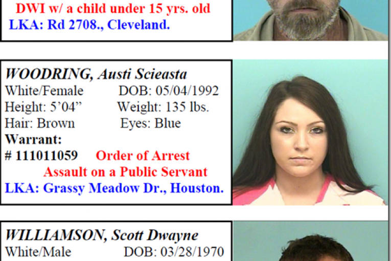 MONTGOMERY COUNTY FEATURED FUGITIVES 1/25/2013