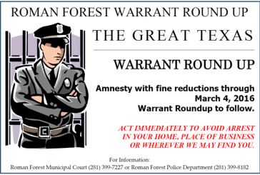 DO YOU HAVE A WARRANT IN ROMAN FOREST?