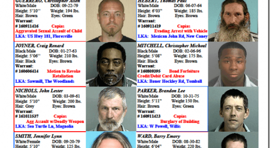 Crime Stoppers Featured Felons 10.07.16