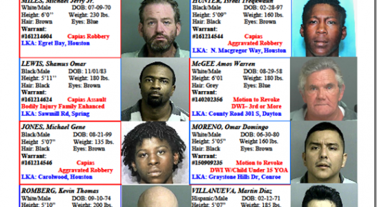 Crime Stoppers Featured Felons 12/23/16