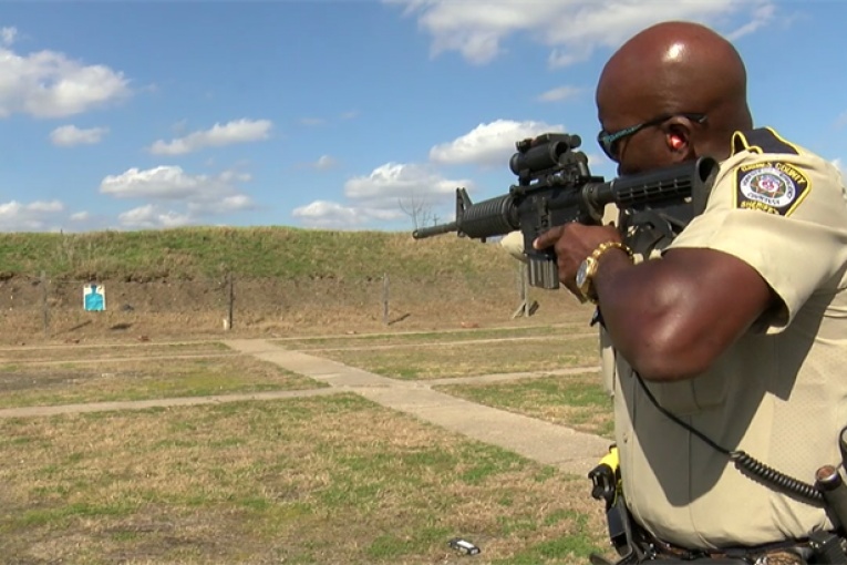 ONE ARMED GRIMES COUNTY DEPUTY IS INSPIRATION TO OTHERS