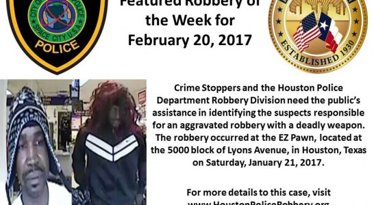 HPD ROBBERY OF THE WEEK