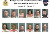 MONTGOMERY COUNTY PRECINCT 3 CONSTABLES OFFICE SUPER BOWL WEEK DWI ARRESTS