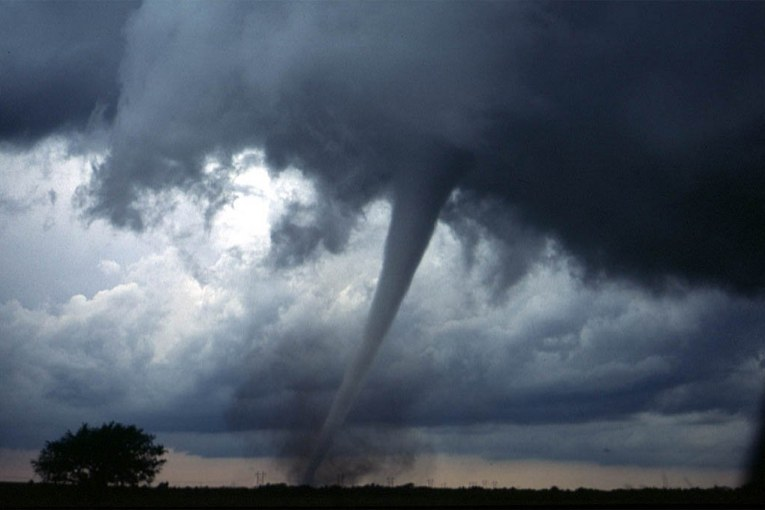 TORNADO REPORTED IN EAST COUNTY