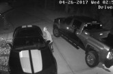 BURGLAR CAUGHT ON VIDEO