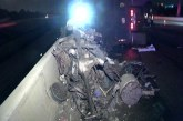 18 WHEELER CRASH CLOSES FREEWAY