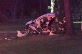 TWO CRITICAL AFTER HEAD-ON CRASH