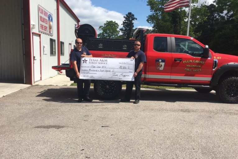 PLUM GROVE VFD RECEIVES FUNDING