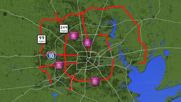 Toll Roads In Houston Map.How To Get Help After Massive Harris Co Toll Road Glitch