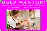 HELP WANTED – EXPERIENCED CAKE DECORATOR