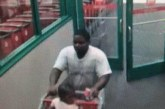 SUSPECT WITH INFANT USES STOLEN CREDIT CARD AT TARGET