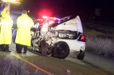 DEPUTY ESCAPES SERIOUS INJURY IN EARLY MORNING CRASH
