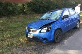 MAN ESCAPES SERIOUS INJURY IN MONDAY MORNING CRASH