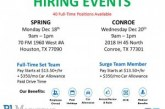 40 FULL TIME POSITIONS-HIRING EVENT THIS WEEK