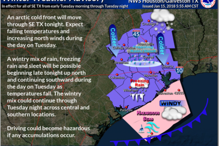 WINTER STORM HEADED FOR SOUTHEAST TEXAS
