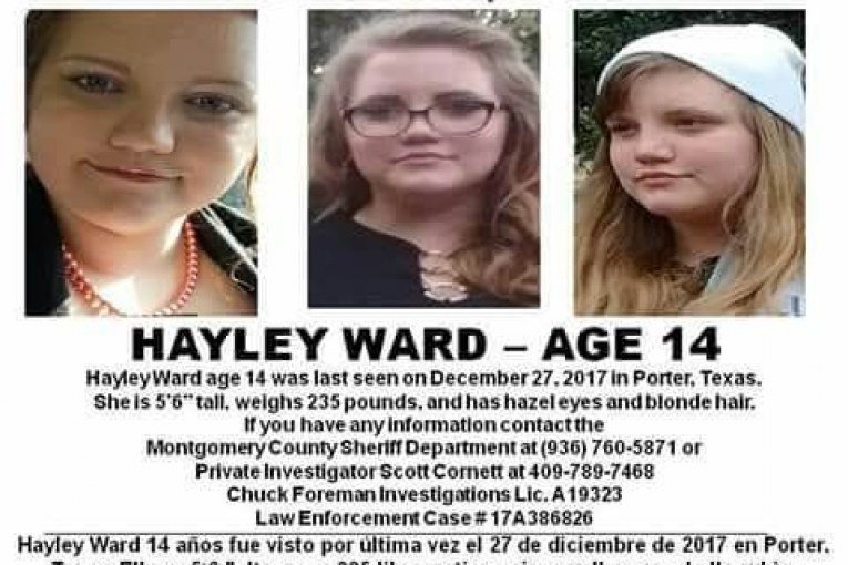 MISSING ENDANGERED CHILD – FROM PORTER, TX