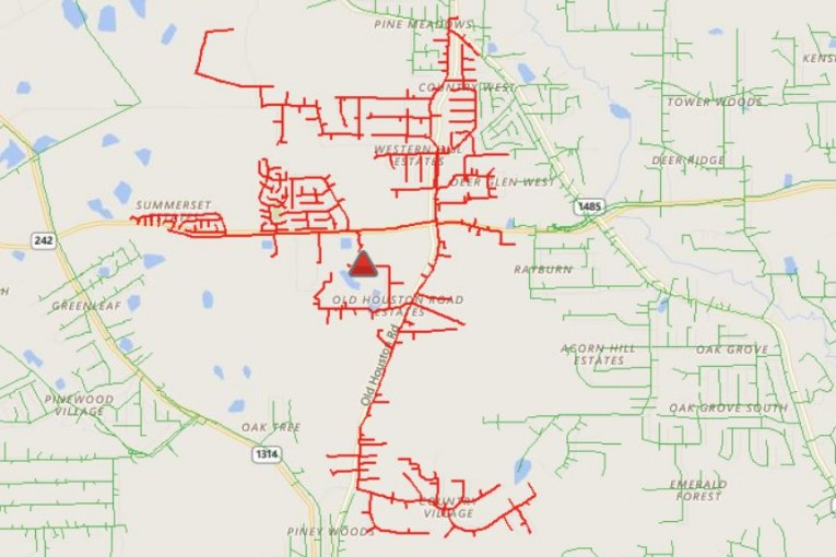 ENTERGY: THOUSANDS WITHOUT POWER
