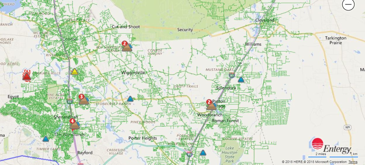 ENTERGY POWER OUTAGES | Montgomery County Police Reporter