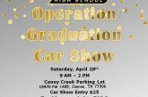 CAR SHOW! Support CCHS Operation Graduation SATURDAY!