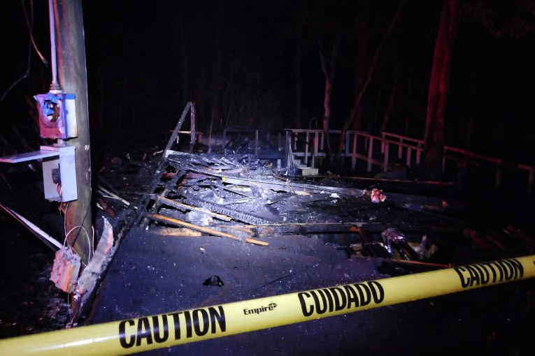 NEW CANEY MOBILE HOME DESTROYED BY FIRE