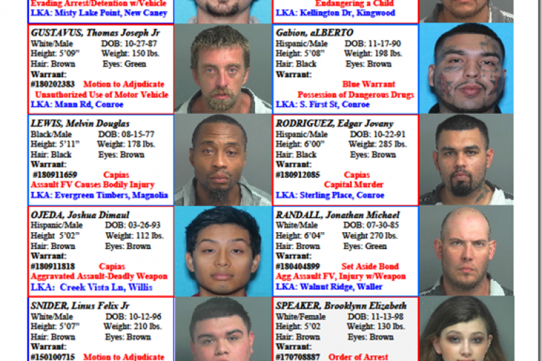 CRIME STOPPERS FEATURES FELONS 09.14.18