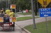 HOUSTON FIREFIGHTERS TOOK TO THE STREETS OF KINGWOOD WEDNESDAY TO TALK WITH CITIZENS ABOUT PROPOSITION B