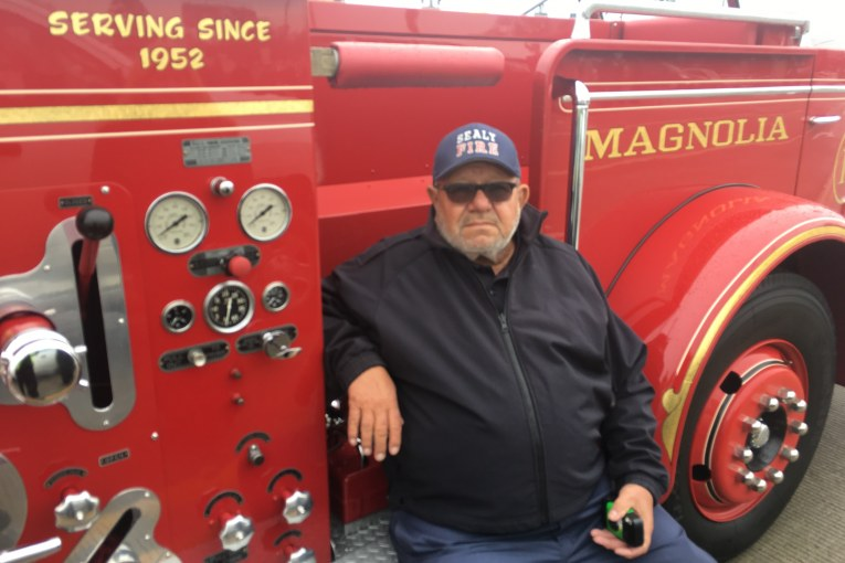 FALLEN FIREFIGHTERS FATHER PAYS TRIBUTE TO PRESIDENT GEORGE BUSH