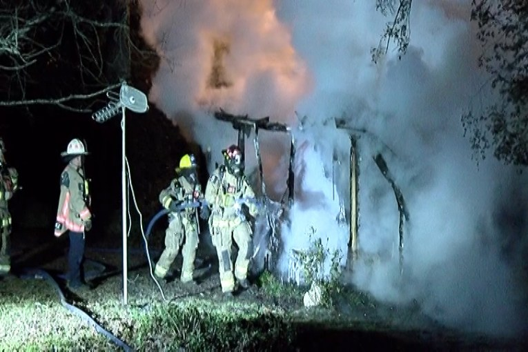 FIREFIGHTERS SEARCH FOR VICTIM AFTER EARLY MORNING BLAZE